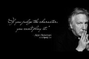 Of Alan Rickman and Talent