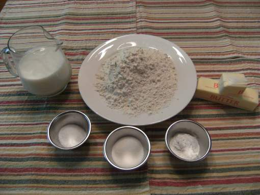 Homemade biscuits ingredients