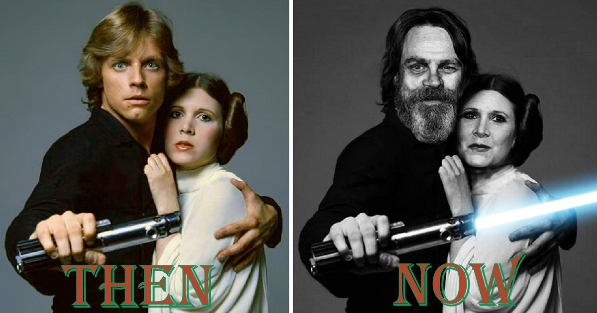 11 Past and Present Pictures Of Star Wars Legendary Characters.