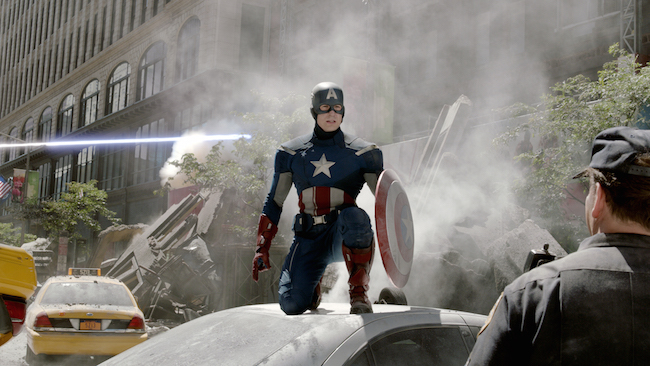 Chris Evans plays Captain America in Marvel's Avengers