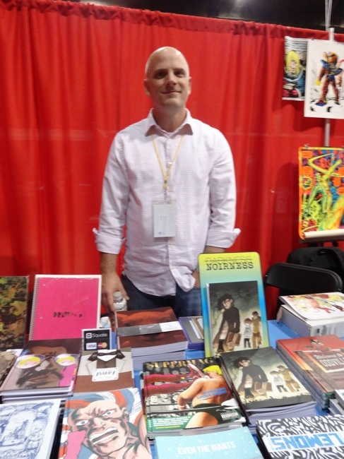 Chris Pitzer at AdHouse Books at MoCCA 2013