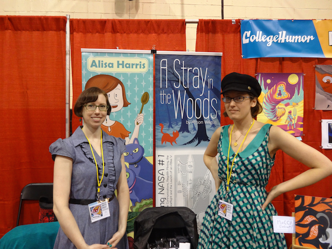 Alisa Harris and Alison Wilgus at MoCCA Fest 2014
