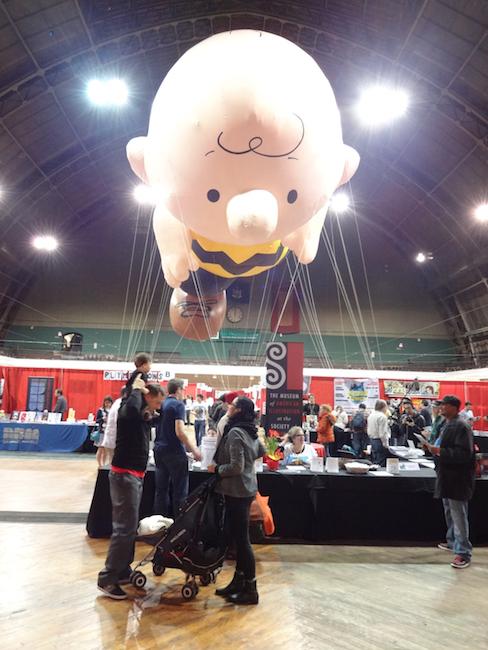 The Charlie Brown balloon at MoCCA Fest 2014