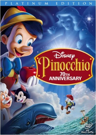 Pinocchio DVD cover