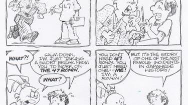 Strip by Stan Sakai about 47 Ronin and Usagi Yojimbo
