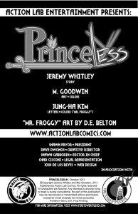 Princeless inside cover