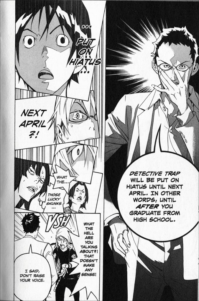 The Editor-in-Chief makes a tough decision, from Bakuman Volume 6, via Derek Bown
