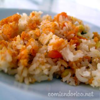 arroz rojo comiendo rico