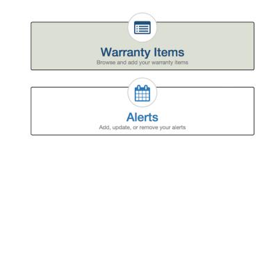 How to add warranty Items