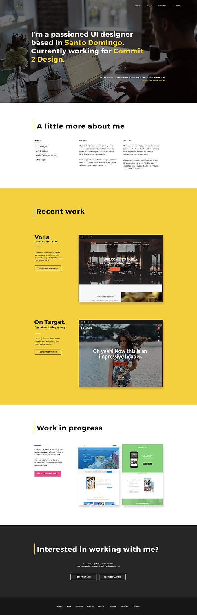 HR - a designer portfolio template
