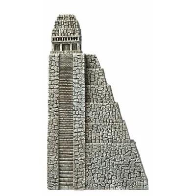 Lost Civilization Aztec Pyramid Resin Ornament   Fish Aquarium Mart