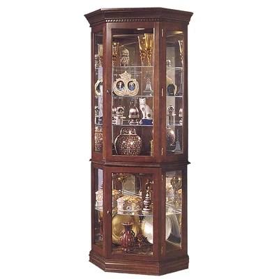 Image of Jasper Cabinet Lorraine Corner Curio Cabinet Finish: Dark Cherry (JCA1062_6840113)