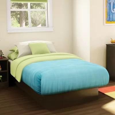 Image of Libra Twin Platform Bed Finish: Chocolate (TH1976_7030482)