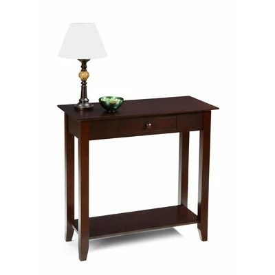 Image of Convenience Concepts American Heritage Hall Table in Espresso (CVC1092)