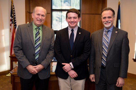 Soldotna High School Jackson Blackwell with Gov Walker and Sen Miccichi