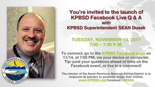 20171114 KPBSD Live Q and A event