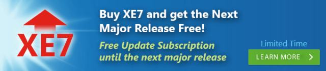 Buy XE7 and get the Next Major Release Free!