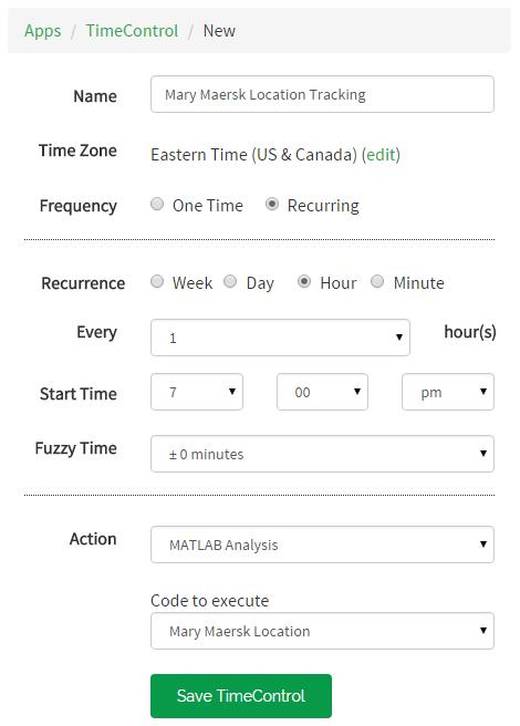 MATLAB Analysis TimeControl