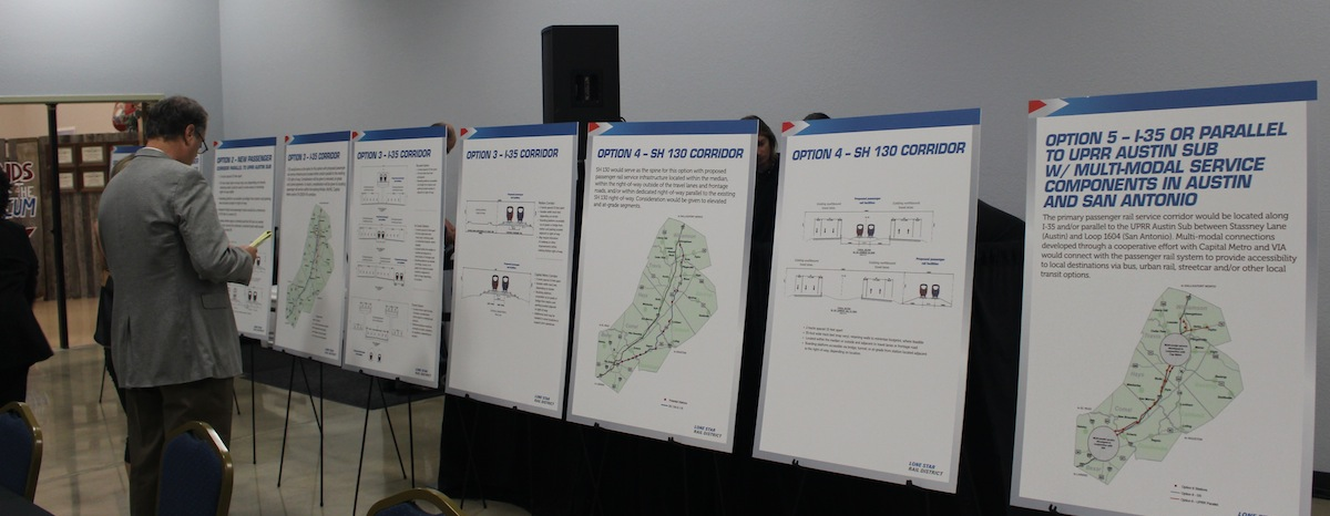 The Lone Star Rail District held a meeting April 15 to discuss the district's progress and future plans on a project to bring commuter rail service to cities between the Austin and San Antonio areas.