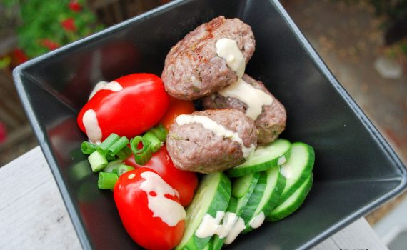 Greek Meatballs with Tahini Sauce