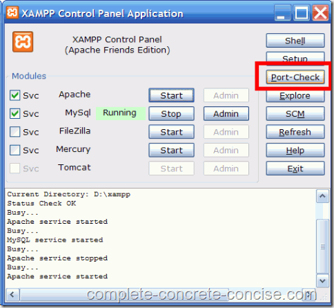 xampp-1.7.3-port-check-1