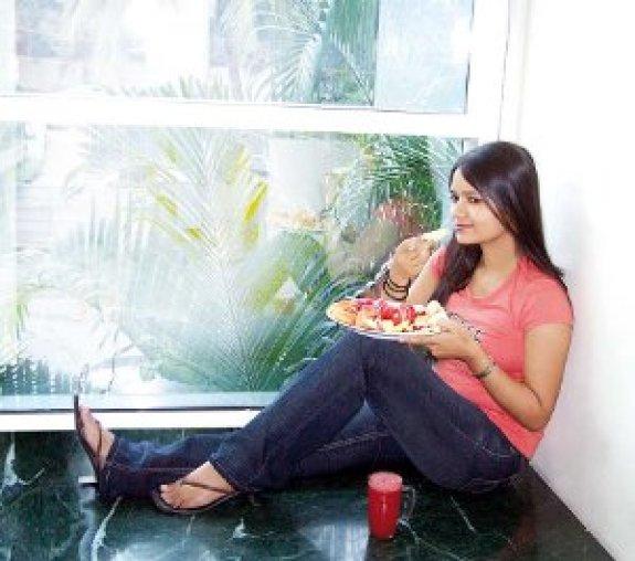 Image result for girl eat दही