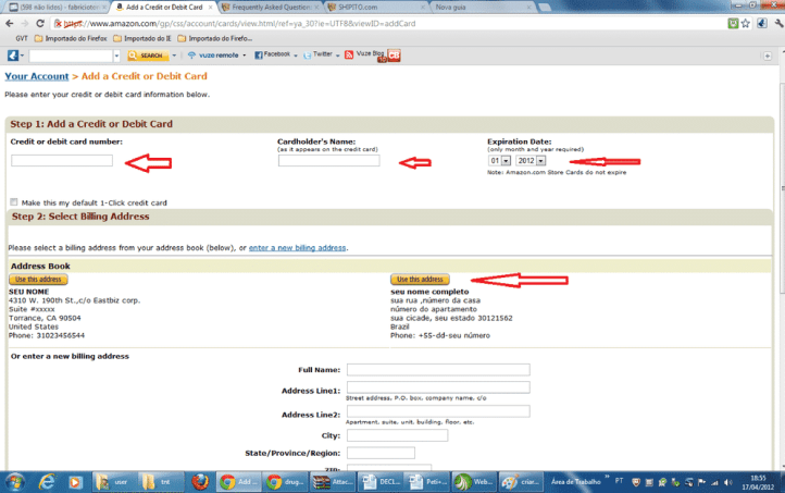 carta Tutorial como comprar no Amazon