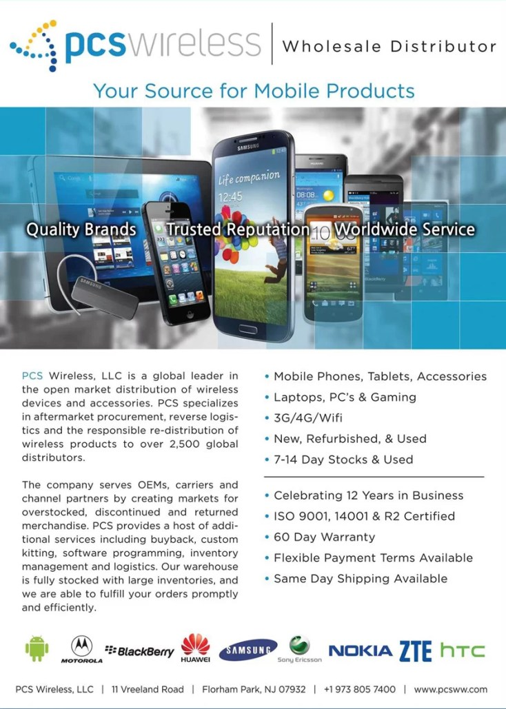 PCS Wireless, Wholesale Distributor, Mayorita distribuidor