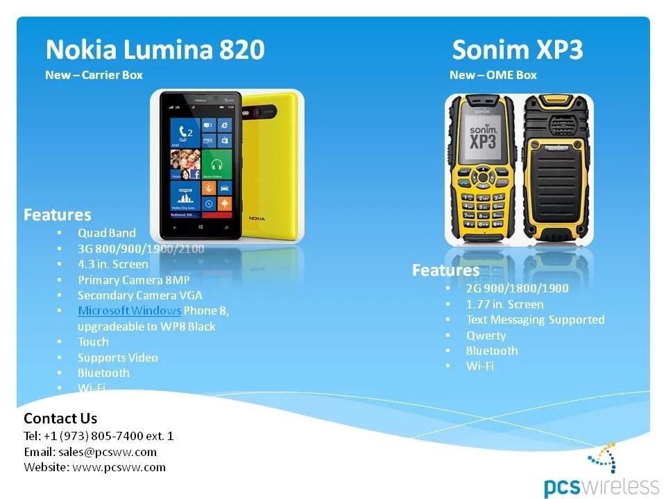 Por Mayor: Nokia Lumia 820, Sonim XP3 Celulares