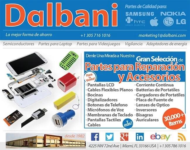 Distribuidor mayorista de accesorios, partes para celulares