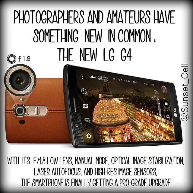 New LG G4 Captura imágenes más brillantes y luminosas con su cámara de 16 MP con apertura de diafragma F1.8. Le dará más luz a tus fotos y mejorará el resultado incluso en entornos más oscuros.