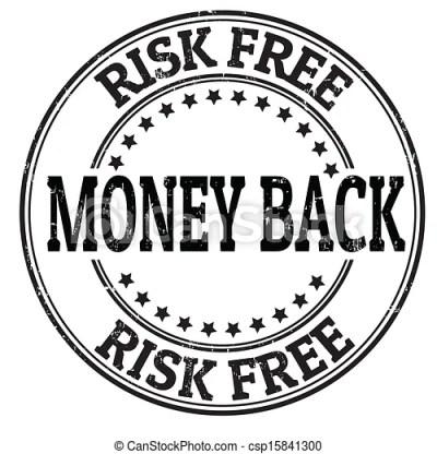 Vector Clipart of Money back stamp - Money back, risk free grunge rubber stamp... csp15841300 ...