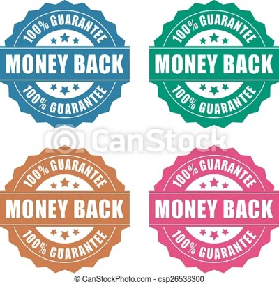 Vector Clipart of Money back guarantee icon on white background csp26538300 - Search Clip Art ...
