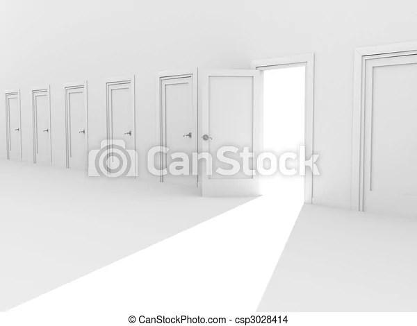 closed door drawing. Unique Door Closed Door Drawing Open 3d In A Row Of The Doors Csp3028414 D Drawing L