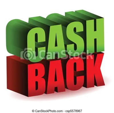 Cash back 3d text illustration design isolated over a white background