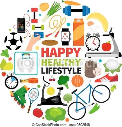 Healthy lifestyle round emblem. Healthy lifestyle emblem ...