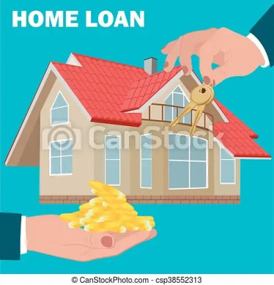 home loan concept, mortgage, flat design, vector... vector clip art - Search Illustration ...