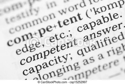 Macro image of dictionary definition of competent. Macro image of dictionary definition of word ...