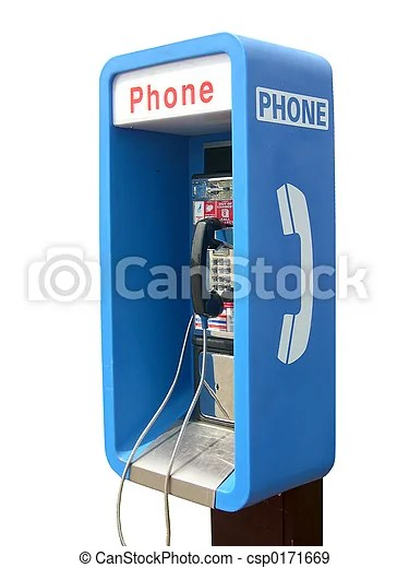 Telephone booth  Blue telephone booth  with background cut out  Telephone Booth   csp0171669