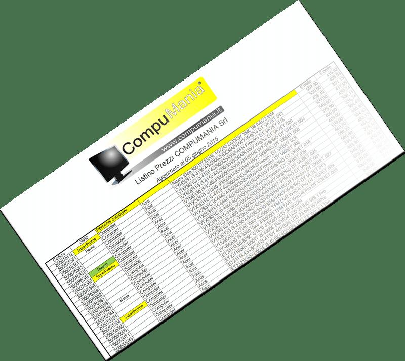Scarica il listino prezzi ufficiale di Compumania Srl