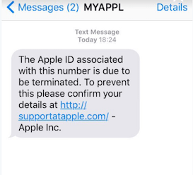 iPhone Text Scam to Get Personal Data