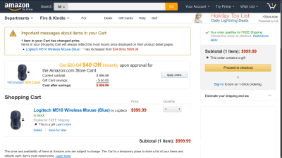 An Important Message About Your Amazon.com Shopping Cart | The Doctor's Blog