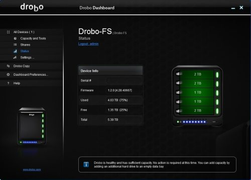 drobo fs 04 500x359 Drobo FS Review