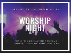 28 April | at Concord Baptist Church | 6:30pm