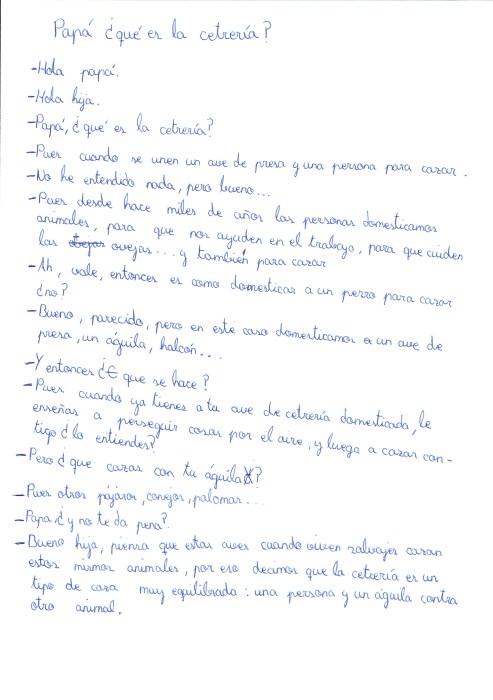 Lourdes Granados - Papa, ¿qué es la Cetrería?