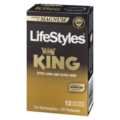 LifeStyles King Large Condoms-Comfort Fit - Condoms Canada