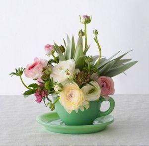 Teacup Flower Vase