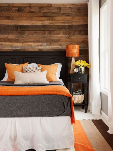 Black and Orange Bedroom