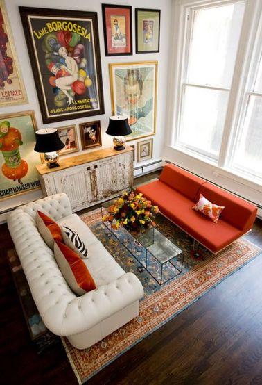 Black and Orange Living Room2
