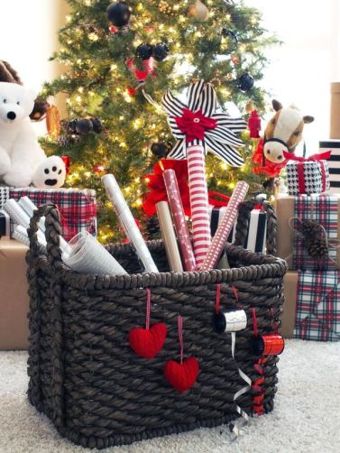 Gift Wrap Storage Basket